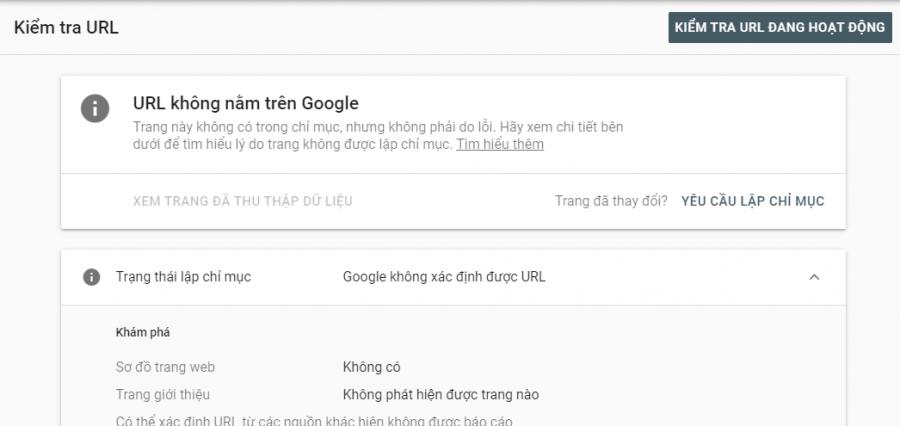 url không nằm trên Google