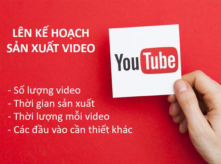 Lên kế hoạch sản xuất video cho kênh