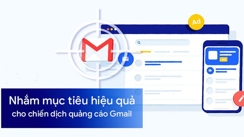 Tính năng nhắm mục tiêu của quảng cáo trên gmail