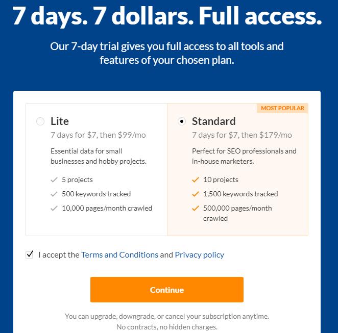 Mất từ 99-179$ một tháng để sử dụng Ahrefs