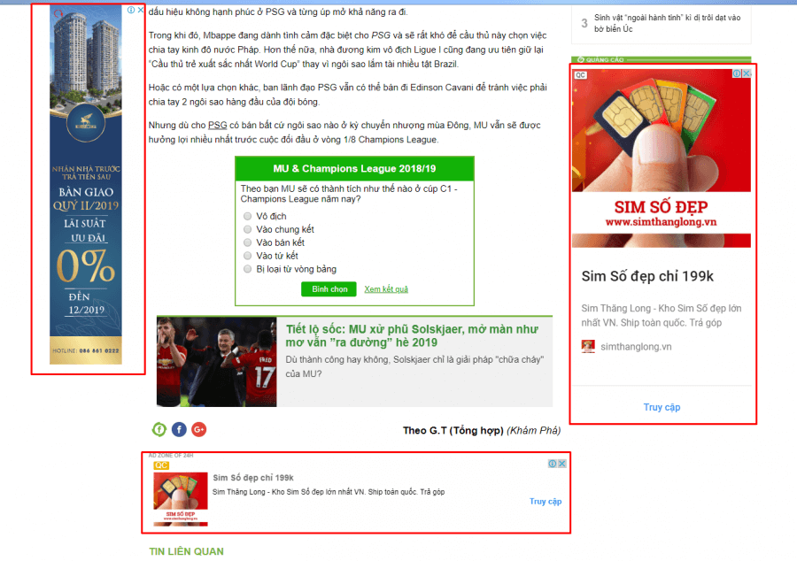 Ví dụ về quảng cáo GDN