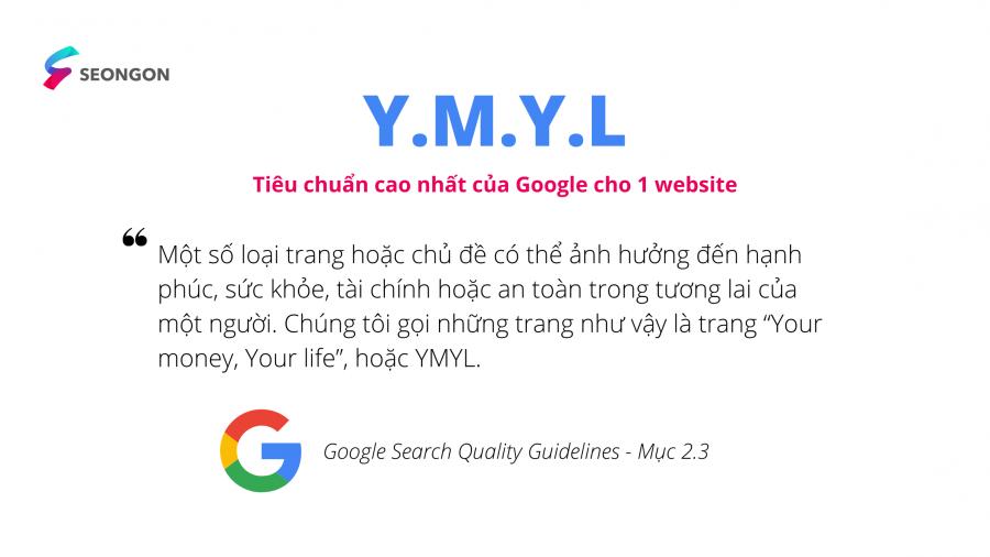 Định nghĩa website YMYL của Google