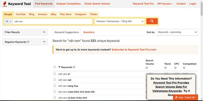 Cách dùng Keyword Planner.