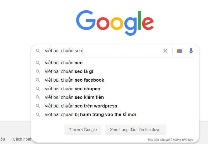 Hướng dẫn cách search từ khóa tìm kiếm trên Google