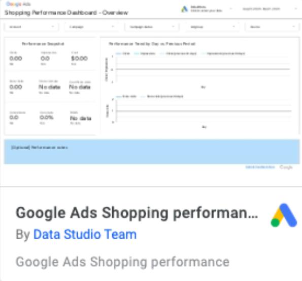 báo cáo Google Ads Shopping