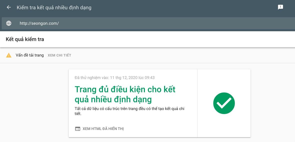 Công cụ tối ưu Onpage Google's Rich Results Test