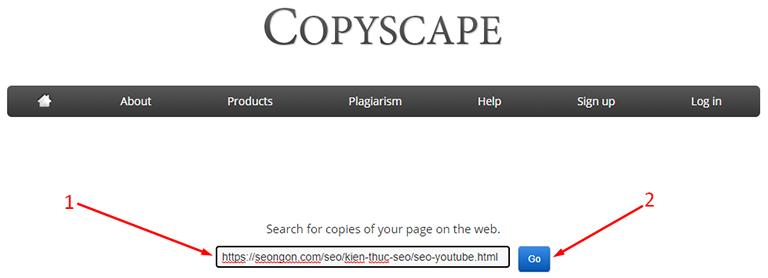 Kiểm tra 1 bài viết có copy hay không với Copyscape