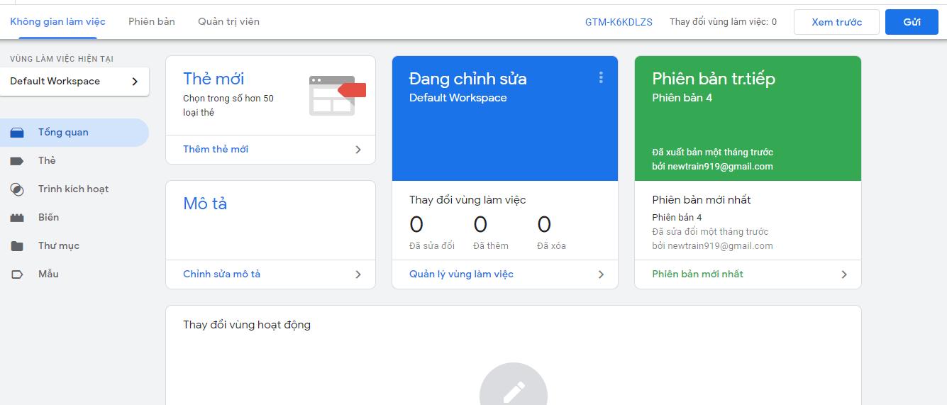 Thiết lập Google Tag Manager
