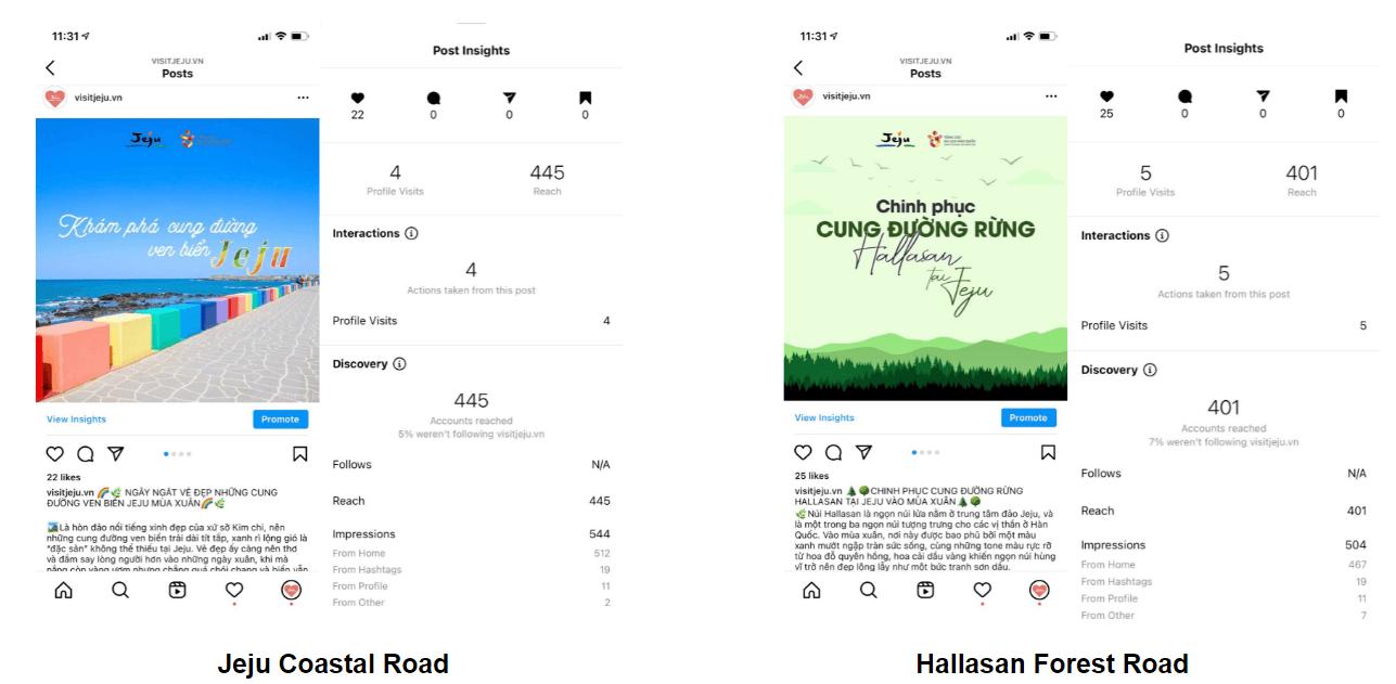 Run to Jeju trên instagram