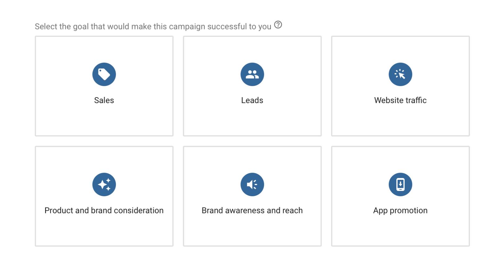 Các mục tiêu trong Google Ads