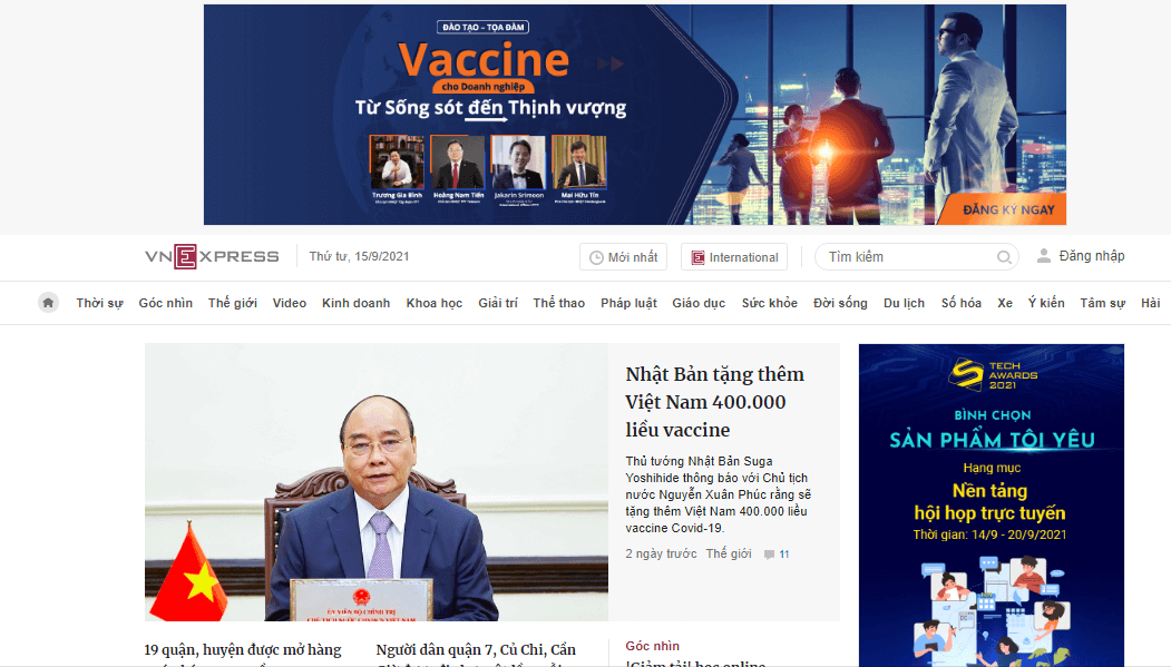 Quảng cáo trên báo chí online
